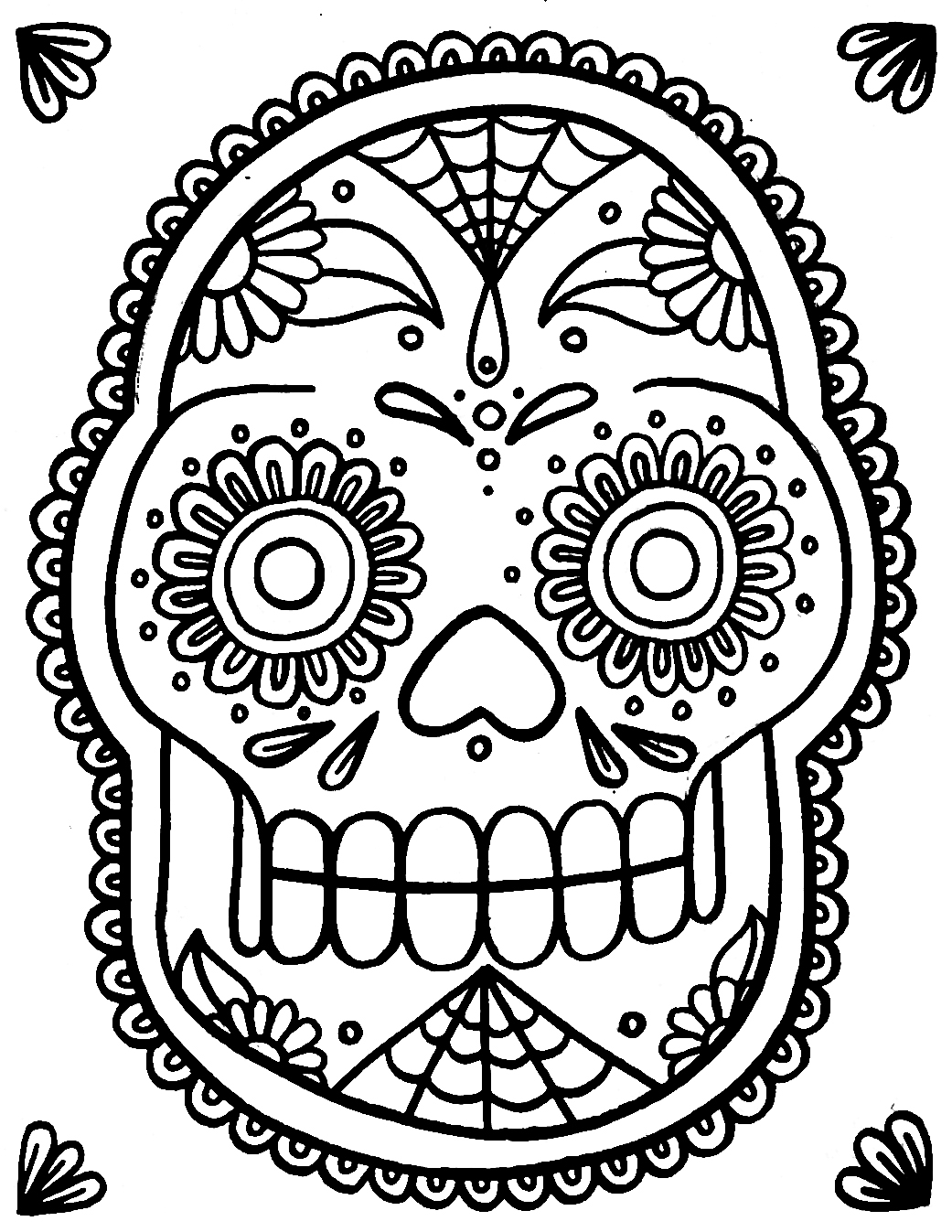 skull colouring pictures free printable skull coloring pages for kids pictures colouring skull