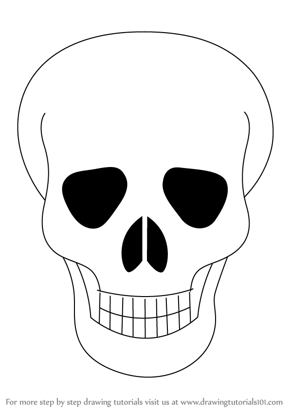 skull drawing easy easy simple skull drawing clipart 3692038 pinclipart drawing skull easy