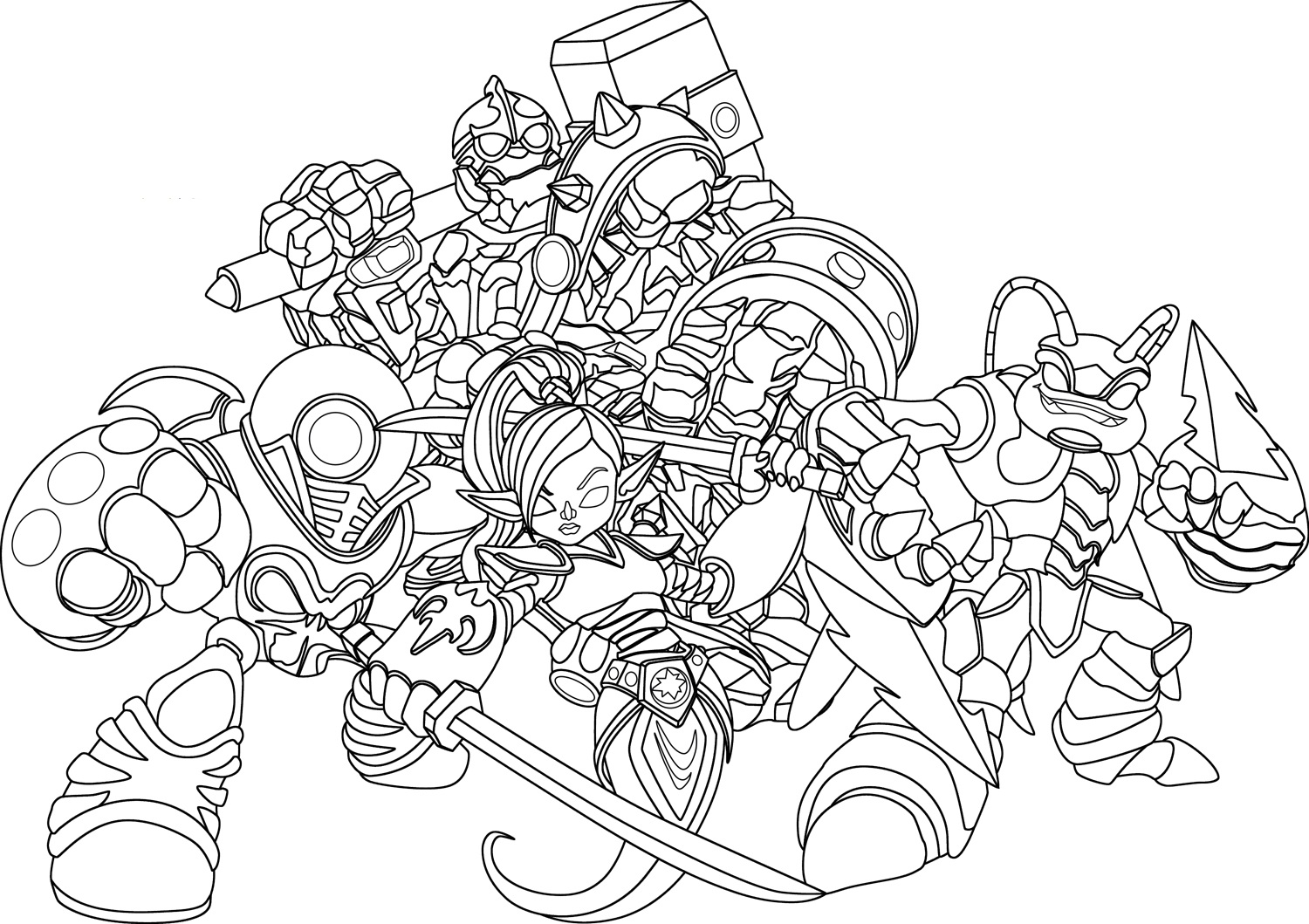 skylanders coloring pages free free printable skylanders coloring pages scribblefun skylanders pages coloring free