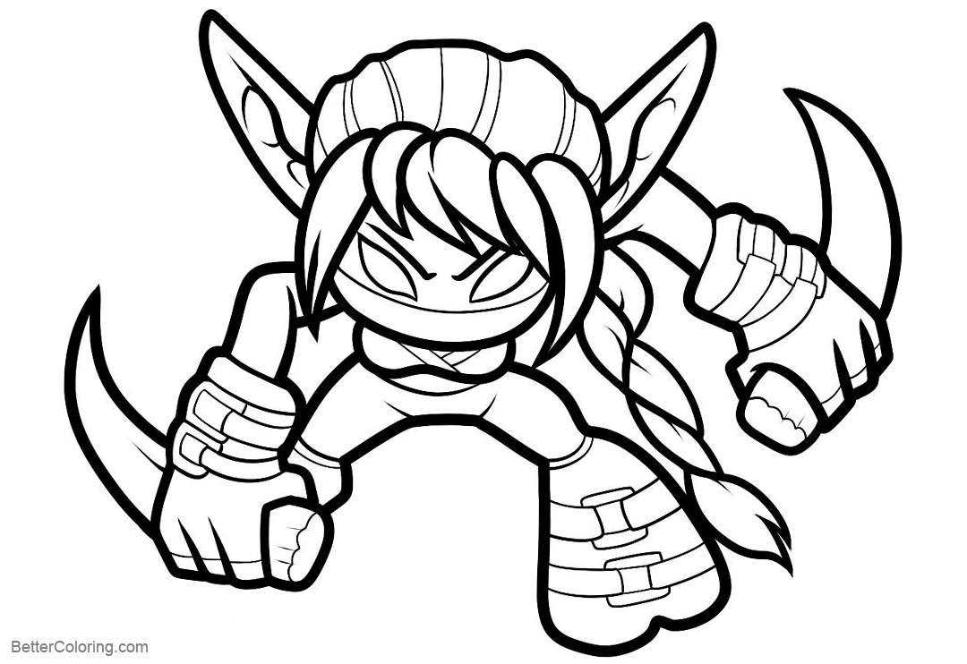 skylanders coloring pages skylanders coloring pages stealth elf free printable pages skylanders coloring