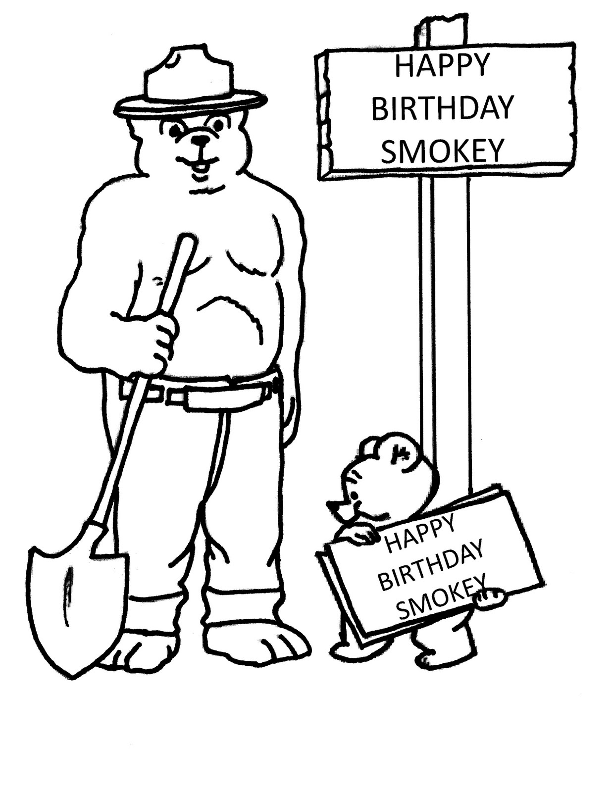 smokey the bear coloring pages smokey the bear coloring page bear coloring pages pages smokey coloring the bear