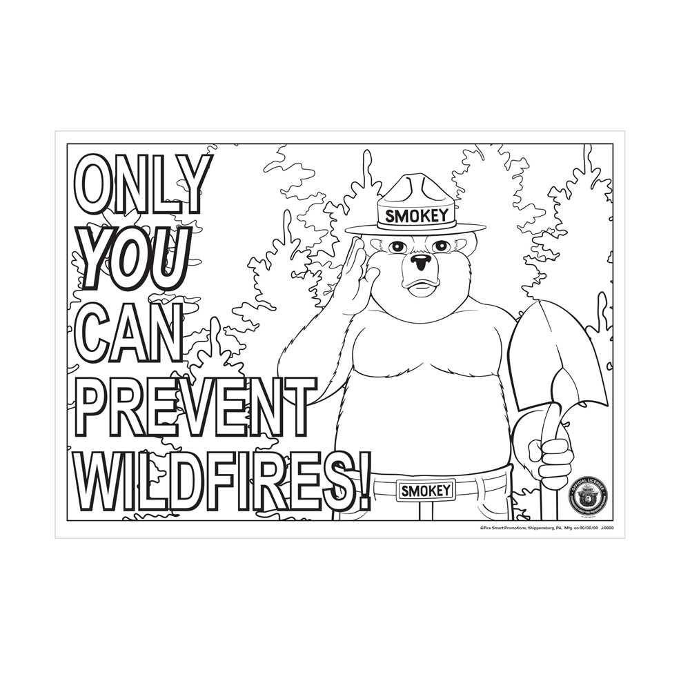 smokey the bear coloring pages smokey the bear coloring pages coloring home bear the smokey coloring pages