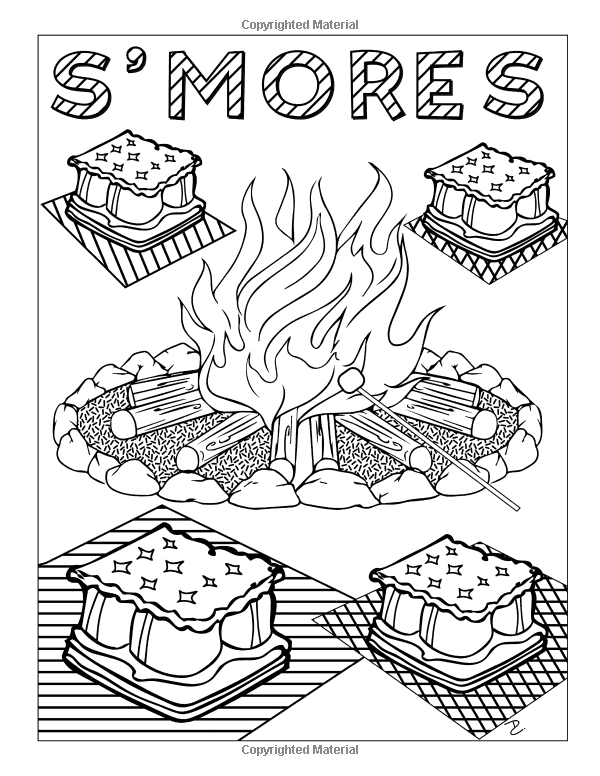 smores coloring pages amazoncom camp stuff 24 page coloring book 24 totally pages coloring smores