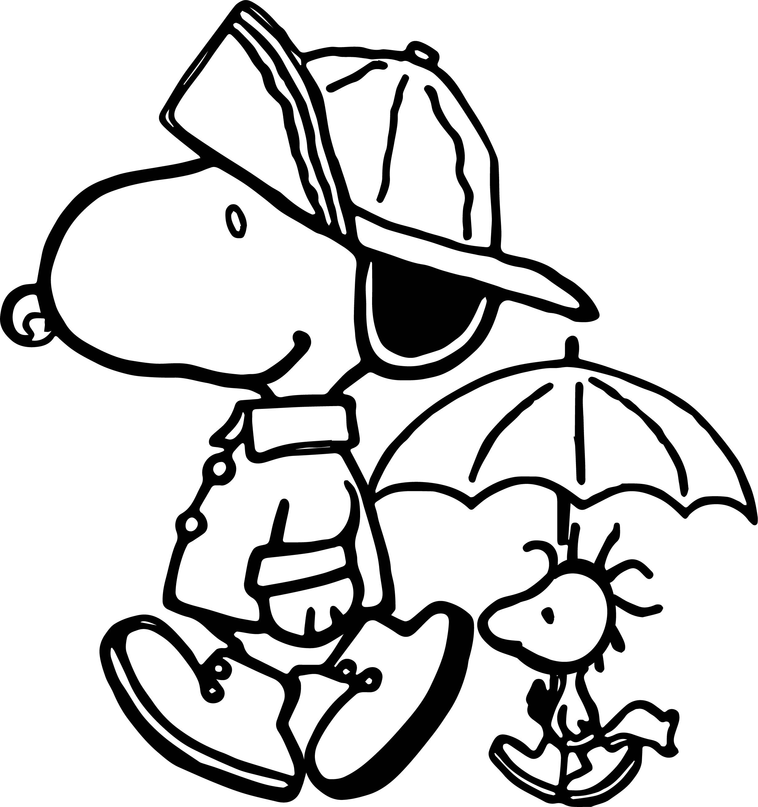 snoopy coloring sheets peanuts snoopy rain gear coloring page peanuts snoopy snoopy sheets coloring