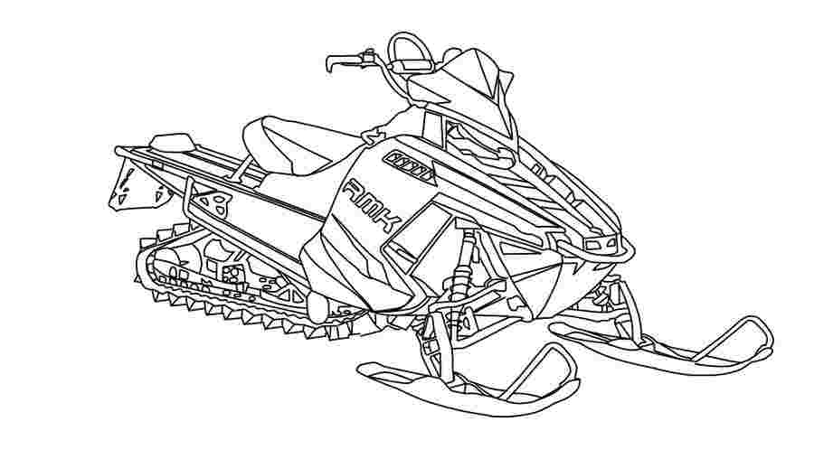 snowmobile coloring pictures kidprintablescom coloring pages snowmobile coloring pictures