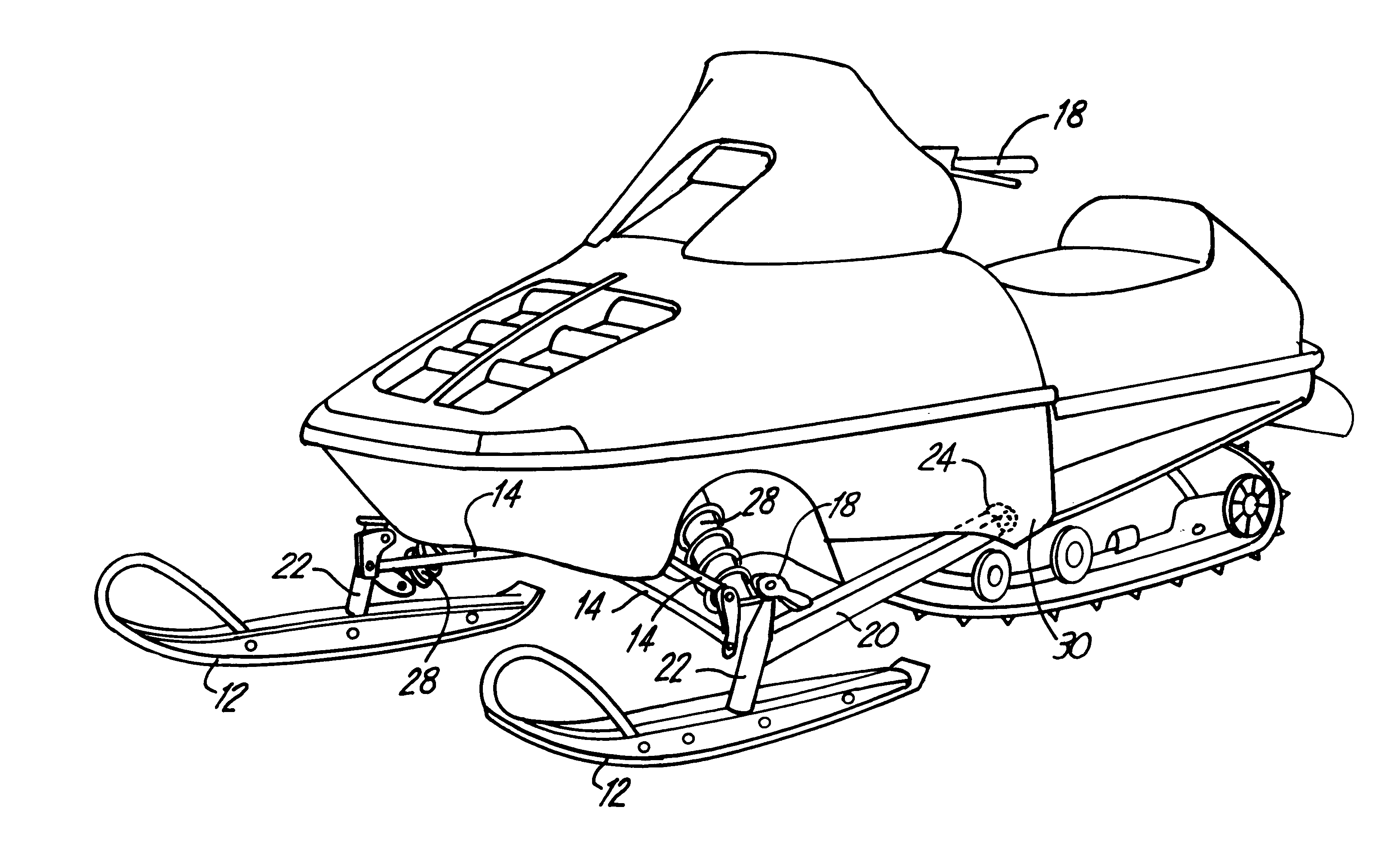 Snowmobile coloring pictures