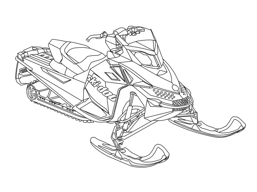 snowmobile coloring pictures snowmobile coloring pages at getcoloringscom free coloring snowmobile pictures