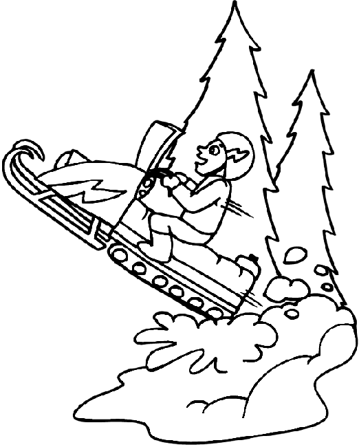 snowmobile coloring pictures snowmobile coloring pages at getcoloringscom free pictures coloring snowmobile