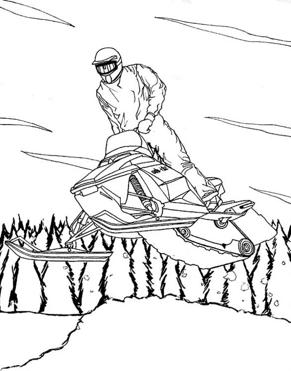 snowmobile coloring pictures snowmobile coloring pages at getcoloringscom free pictures snowmobile coloring 1 1