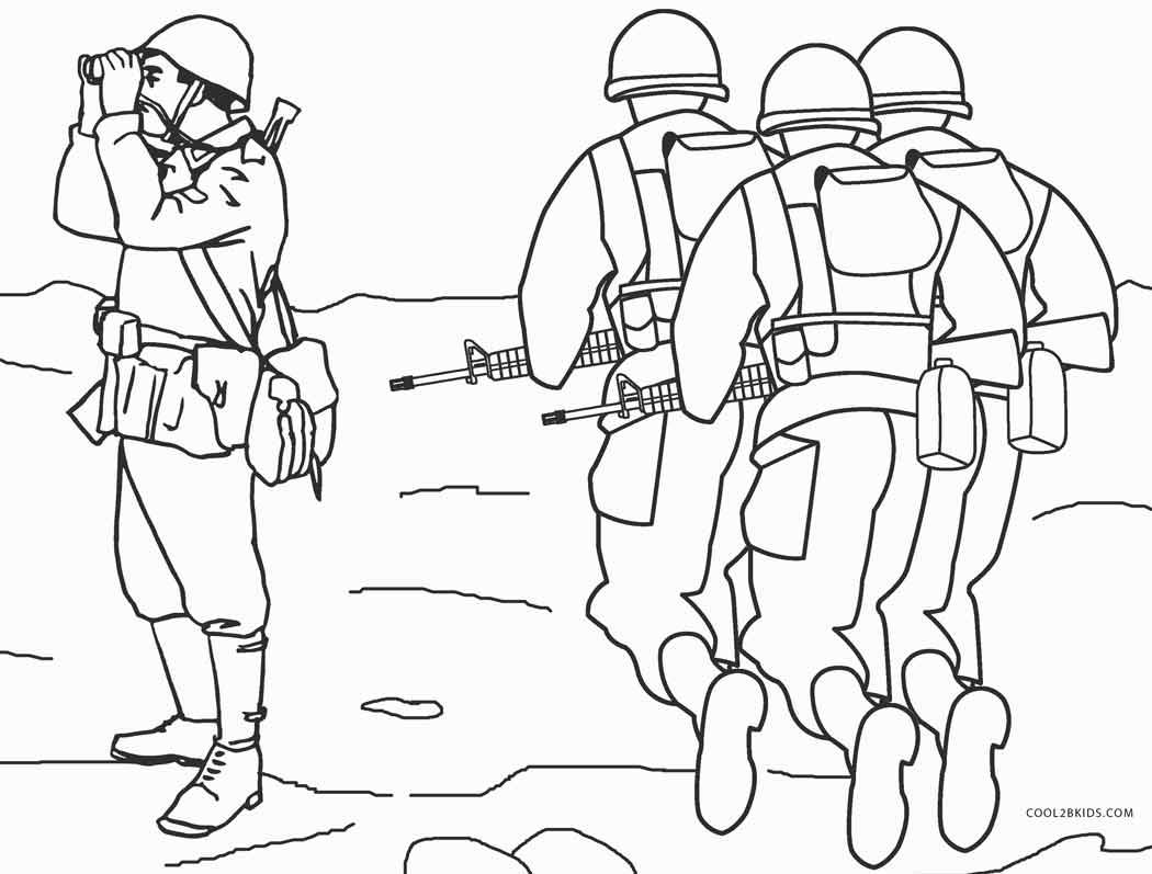 soldier color army coloring pages soldier color