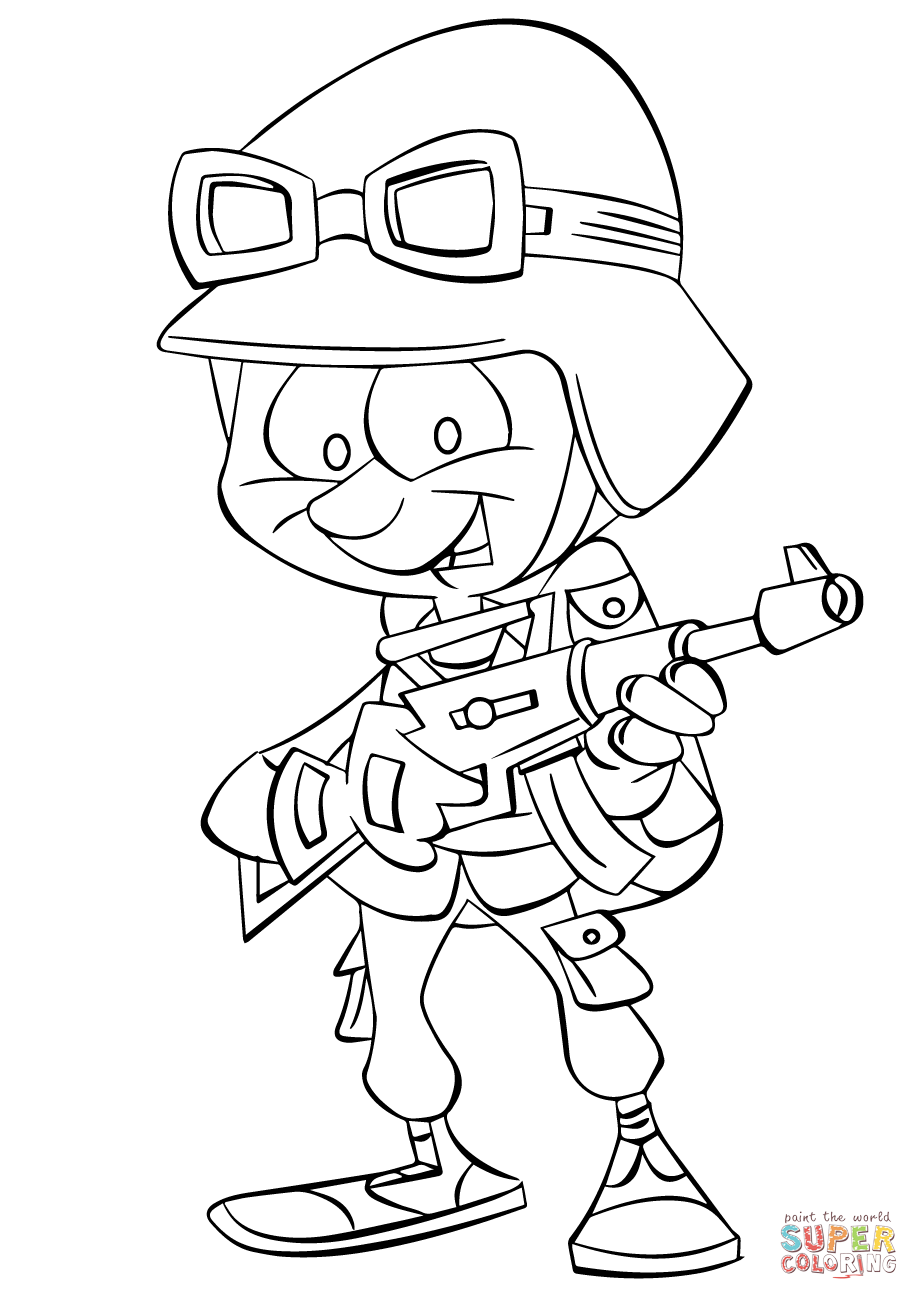soldier color coloring page of a soldier coloring home color soldier