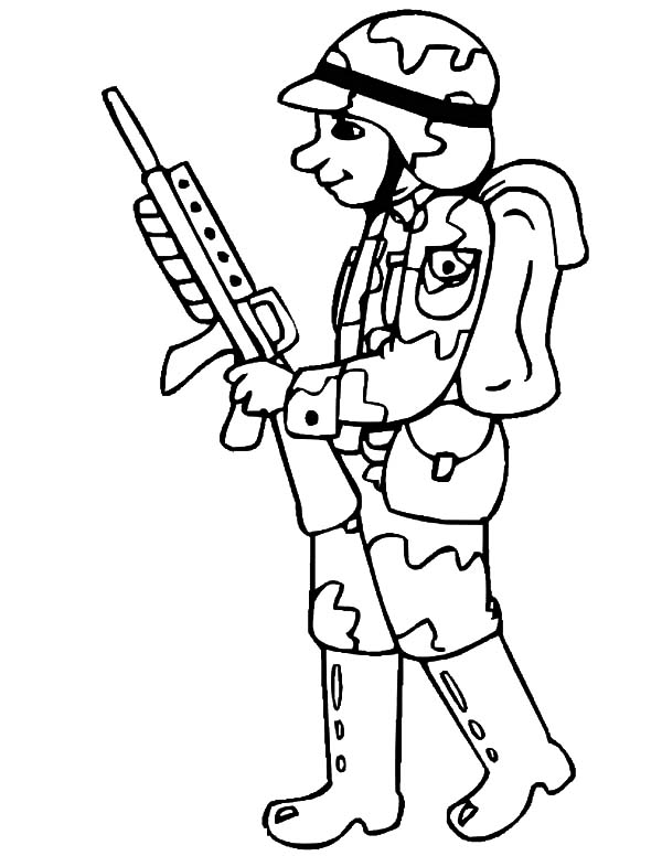 soldier color coloring page soldier of the future color soldier