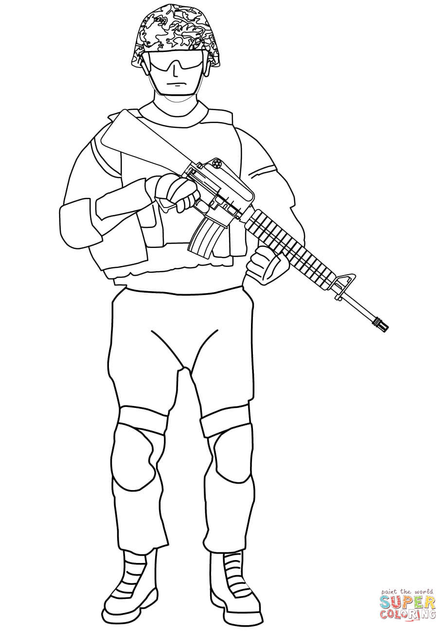 soldier color soldier drawing easy at getdrawings free download color soldier