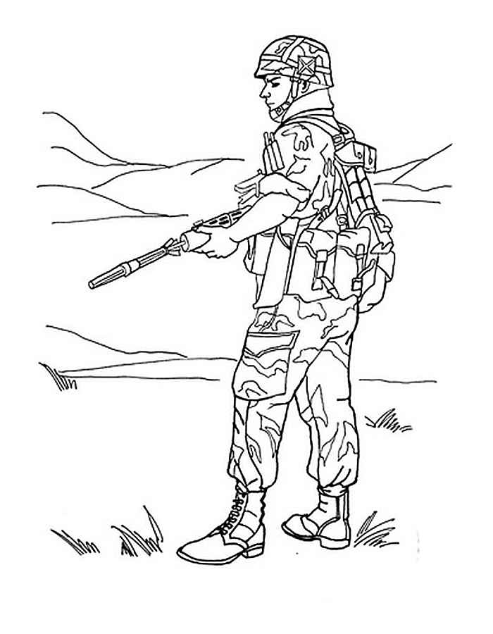 soldier color soldier with m16 coloring page free printable coloring pages soldier color