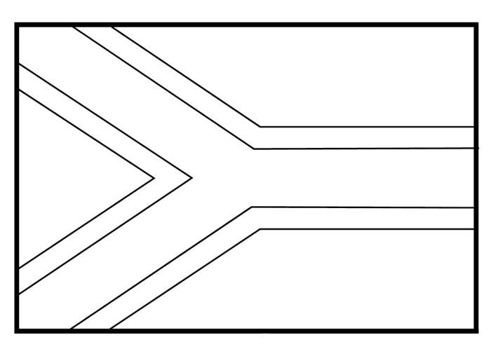 south african flag coloring page the flag of south africa coloring pages flags coloring coloring south page african flag
