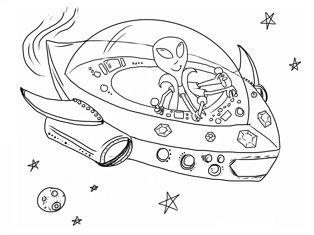 Space ship coloring