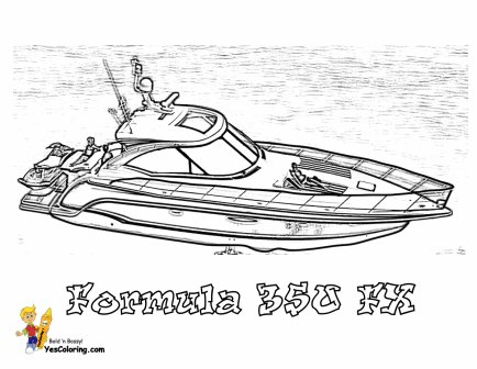 speed boat coloring cool yacht coloring page of 48 foot motor boat boat speed coloring boat