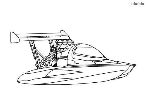 speed boat coloring large speed boat coloring page for kids transportation speed boat coloring