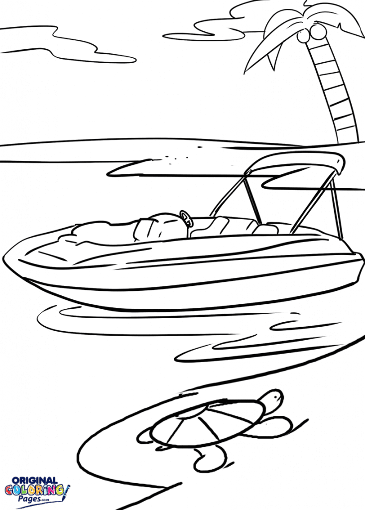 speed boat coloring speed boat front coloring page for kids transportation speed boat coloring