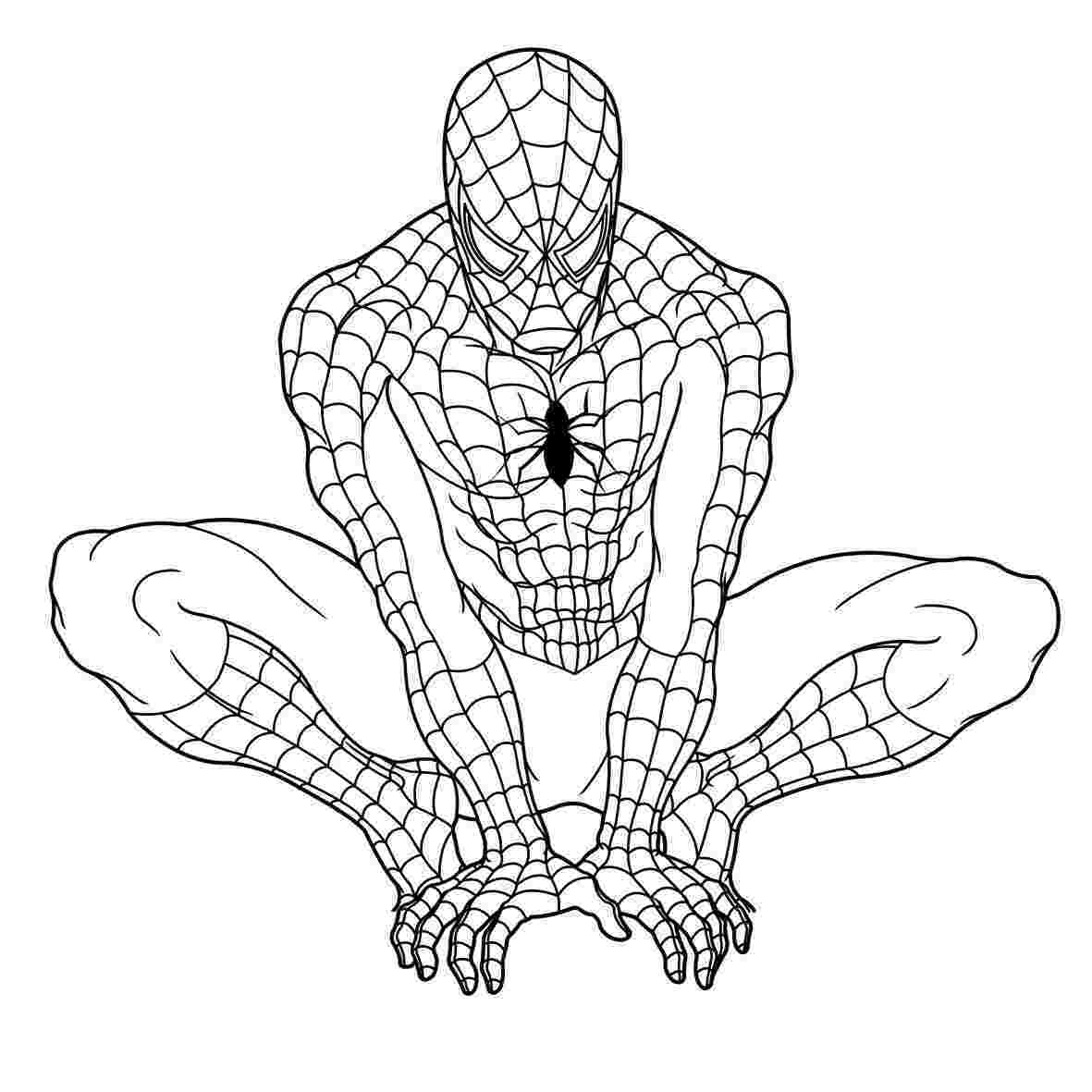 spiderman colouring pics printable spiderman coloring pages for kids cool2bkids colouring spiderman pics