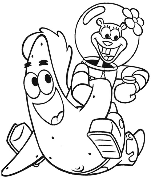 spongebob and patrick coloring pages spongebob and patrick drawing at getdrawings free download pages and patrick spongebob coloring