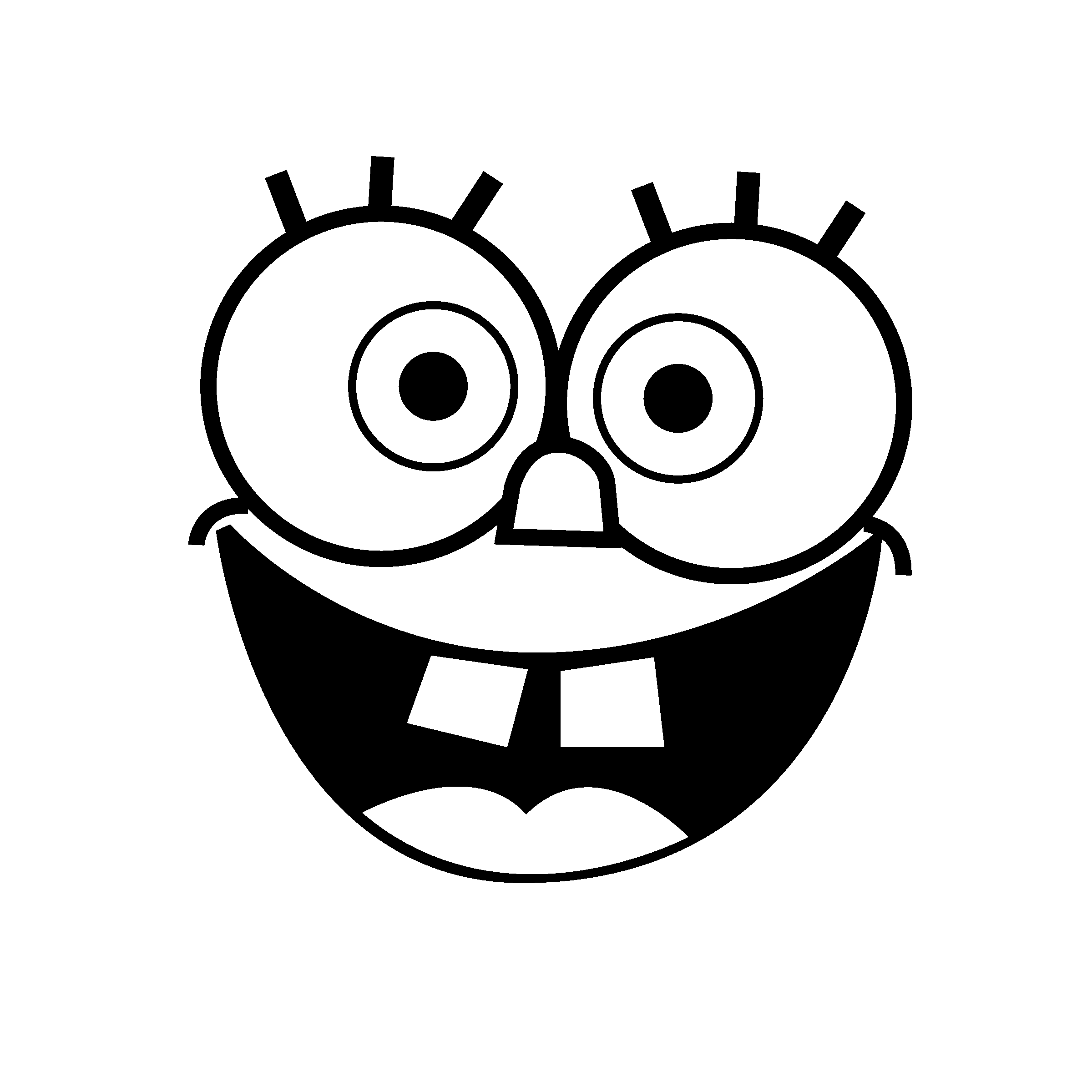 spongebob black and white excited spongebob coloring pages in 2020 with images and spongebob black white