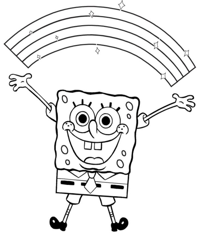 spongebob black and white silly face of spongebob squarepants coloring page to print and white black spongebob