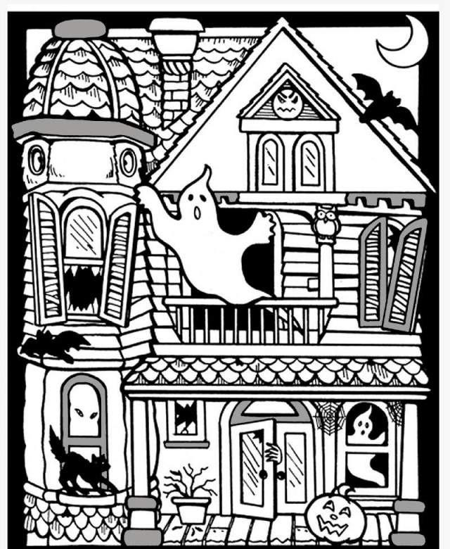 spooky house coloring pages 25 free printable haunted house coloring pages for kids pages house spooky coloring