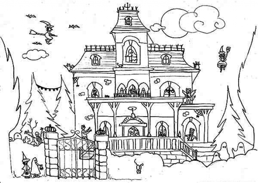 spooky house coloring pages cartoon haunted house coloring page coloring home spooky house pages coloring