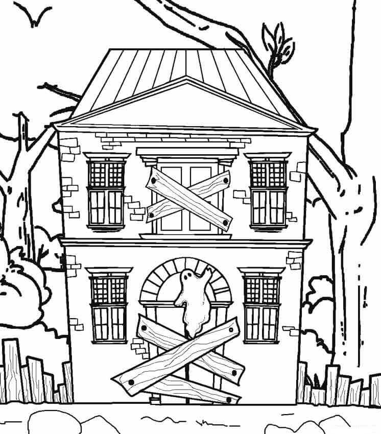 spooky house coloring pages printable haunted house coloring pages for kids pages coloring house spooky