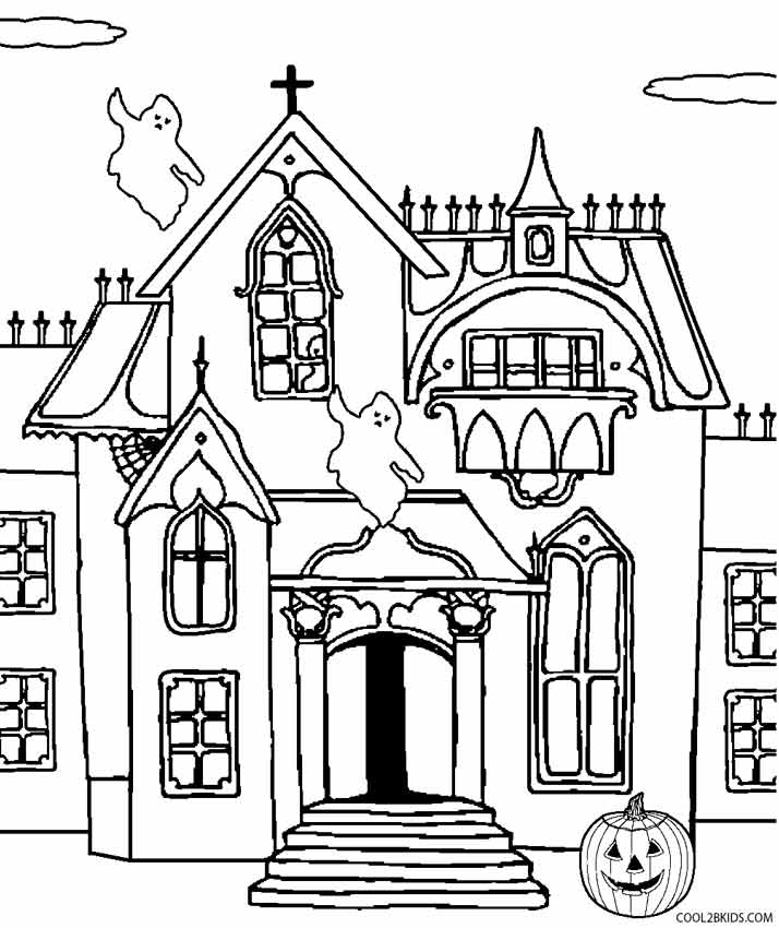 spooky house coloring pages spooky house drawing at getdrawings free download pages coloring spooky house