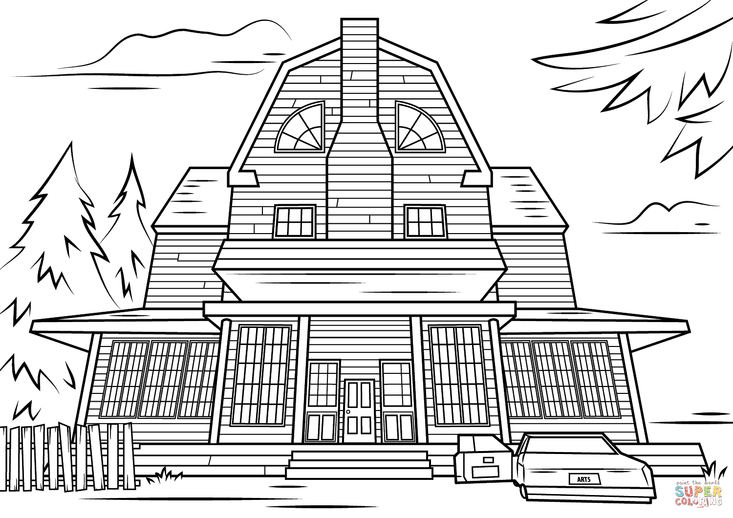 spooky house coloring pages tim van de vall comics printables for kids spooky coloring pages house