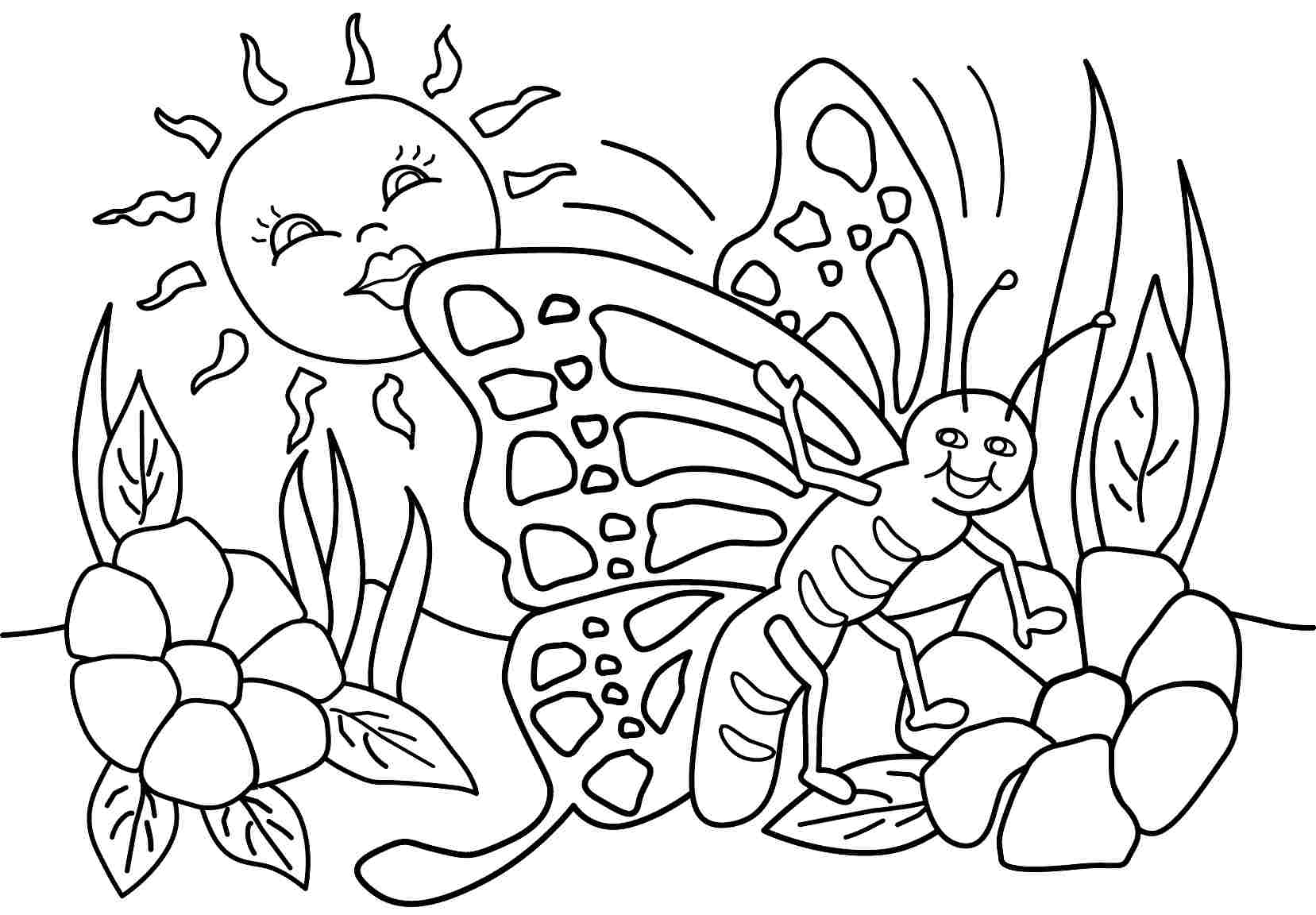 spring coloring pages for kids 5 best images of spring season coloring pages printable for pages coloring kids spring