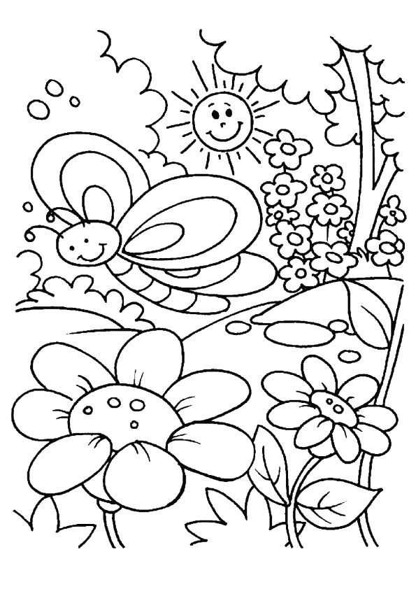 spring coloring pages for kids cute spring coloring pages coloring home pages for kids spring coloring
