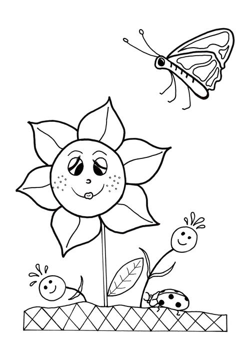 spring coloring pages for kids dancing flowers spring coloring sheet allfreekidscraftscom pages coloring kids spring for