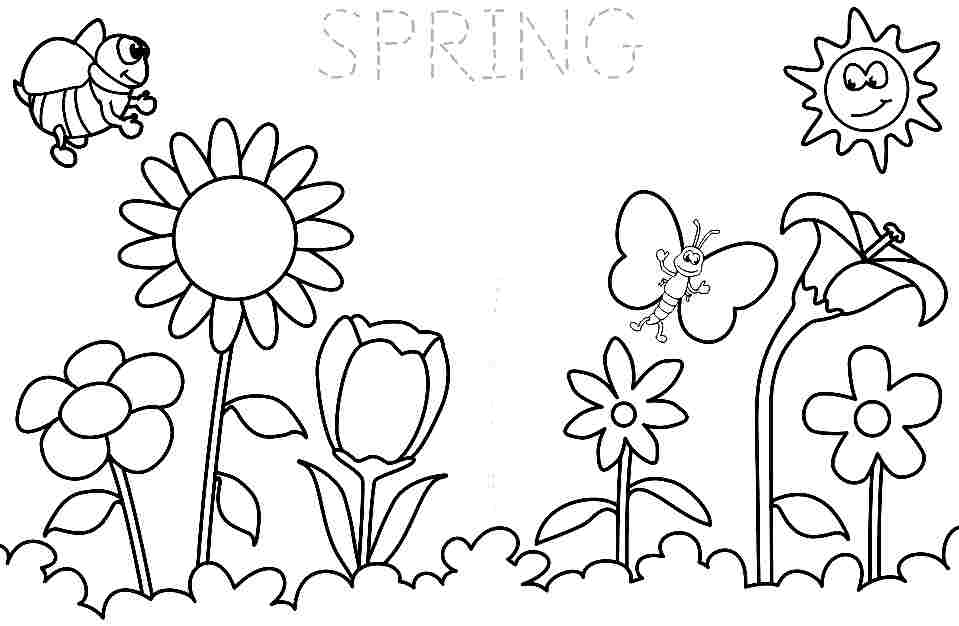 spring coloring pages for kids free download to print beautiful spring flower coloring coloring kids pages for spring