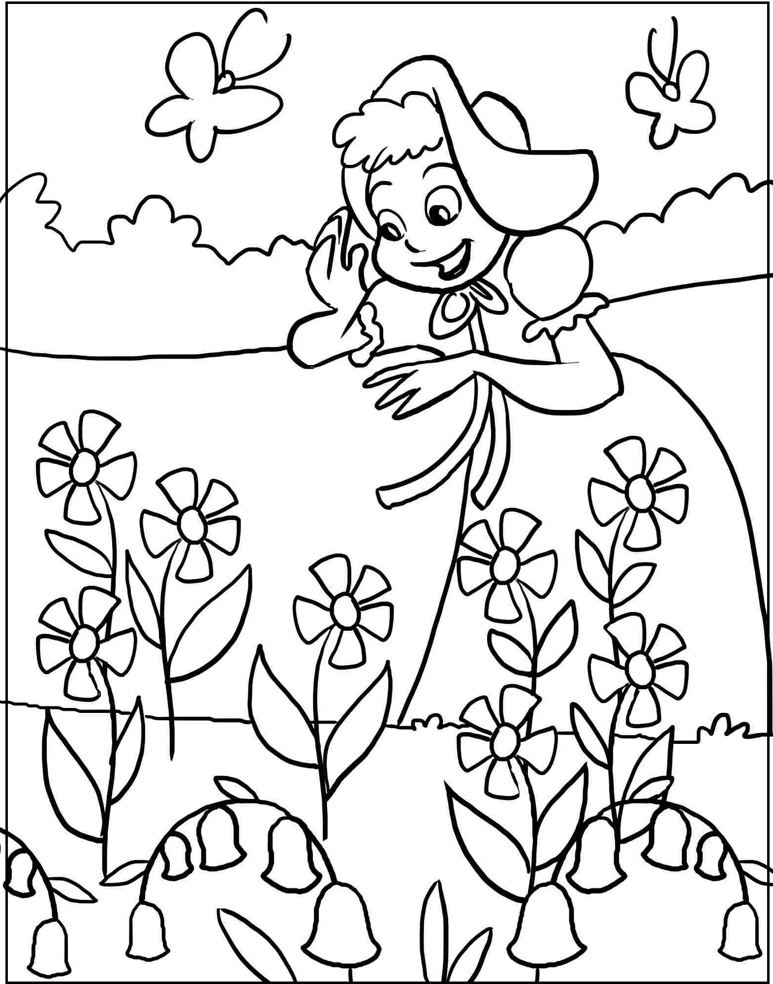 spring coloring pages for kids free spring coloring pages for kids at getdrawings free coloring pages kids for spring