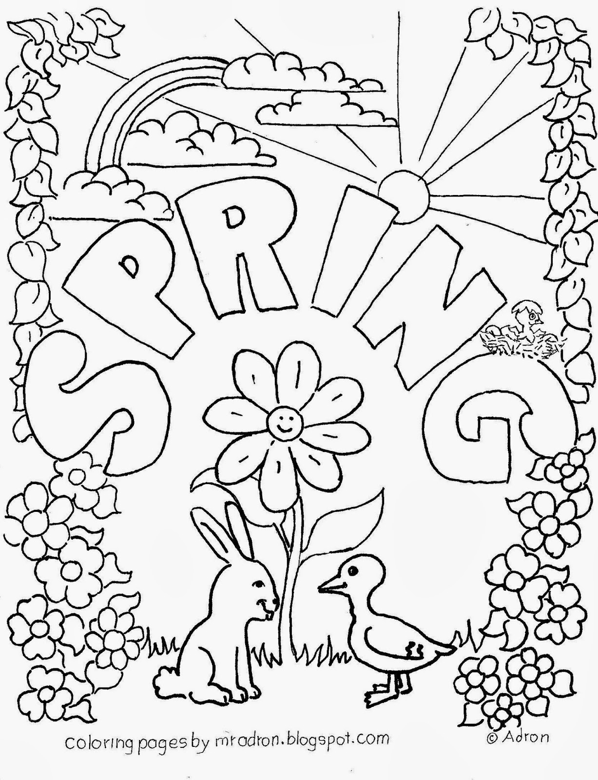spring coloring pages for kids march coloring pages best coloring pages for kids coloring pages for spring kids