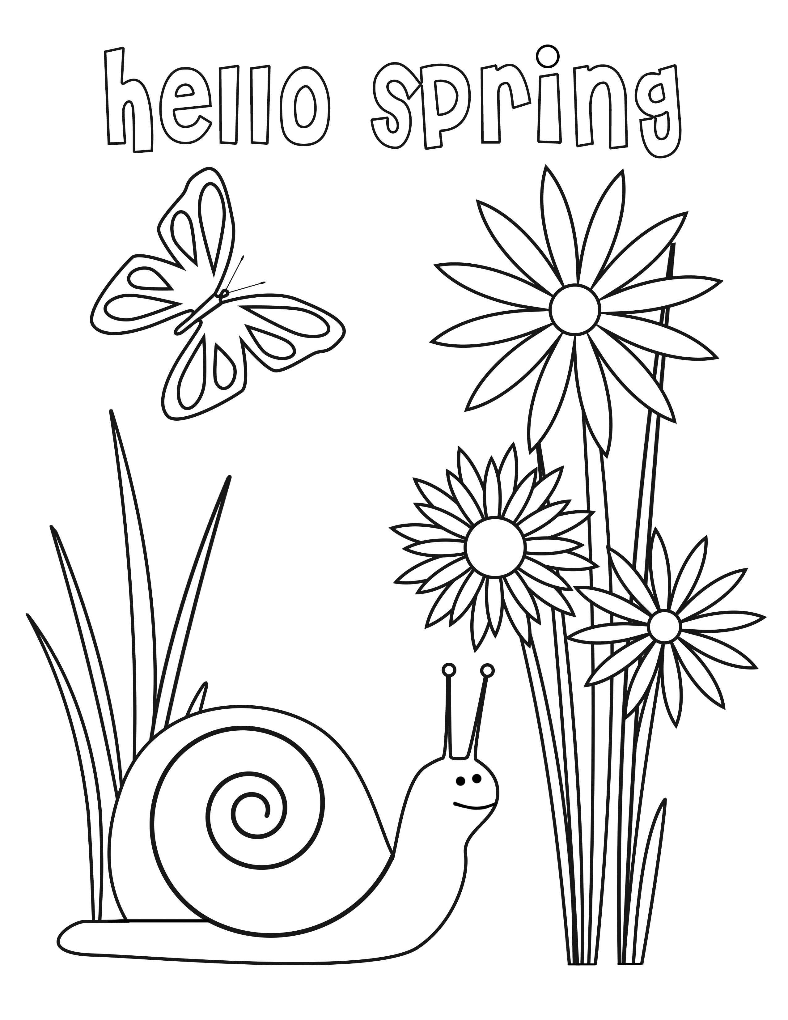 spring coloring pages for kids march coloring pages best coloring pages for kids for spring kids pages coloring