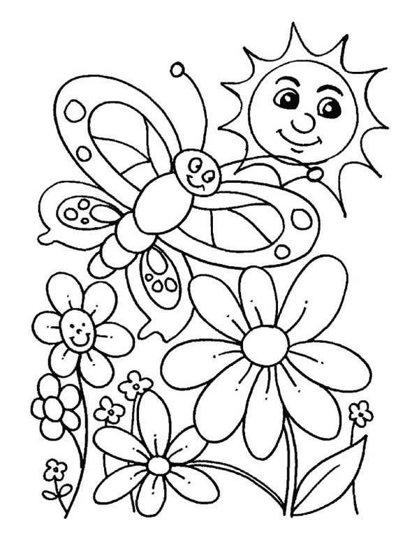 spring coloring pages for kids printable spring coloring pages kindergarten coloring home pages kids for spring coloring