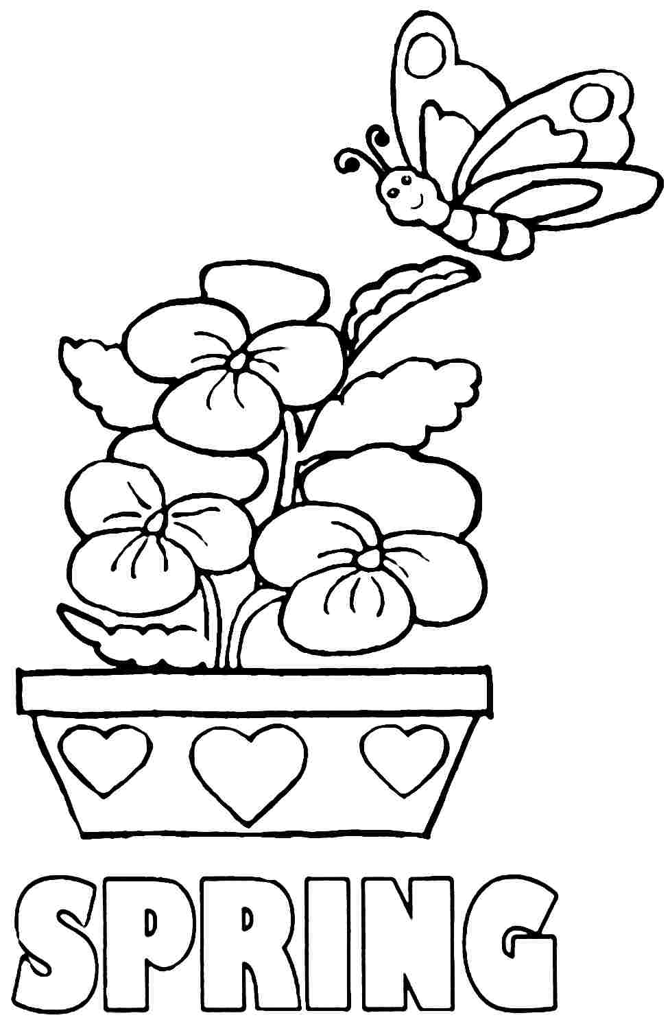 spring coloring pages for kids spring coloring pages best coloring pages for kids for coloring spring pages kids