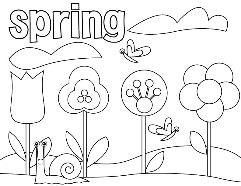 spring coloring pages for kids spring coloring pages spring coloring pages flower for spring kids coloring pages