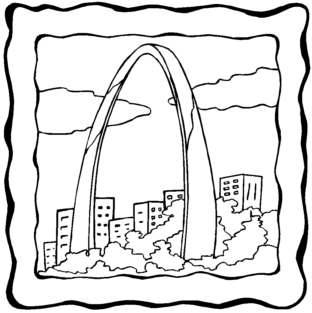 st louis coloring pages 11 best cakes i39ve made images on pinterest baby shower louis coloring st pages