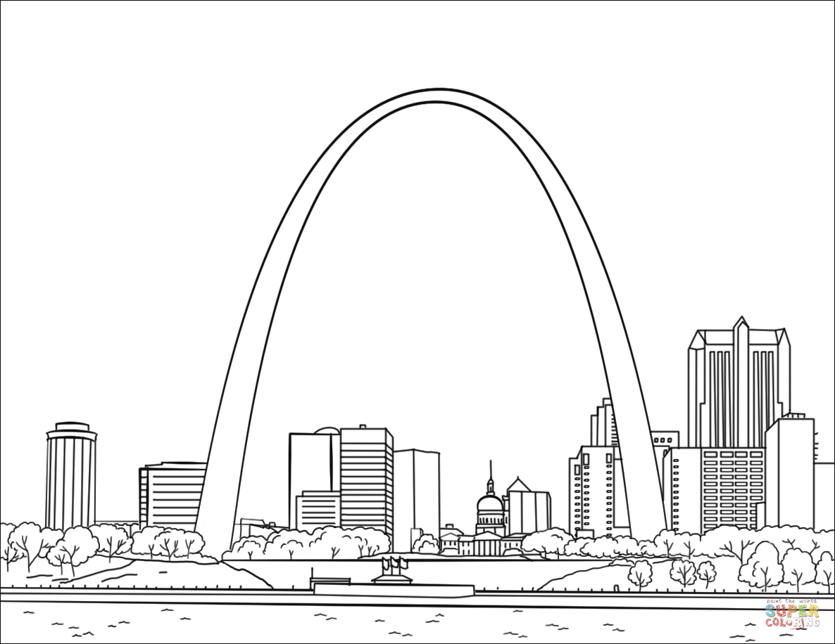 st louis coloring pages coloring books st louis gateway to the west pages louis coloring st
