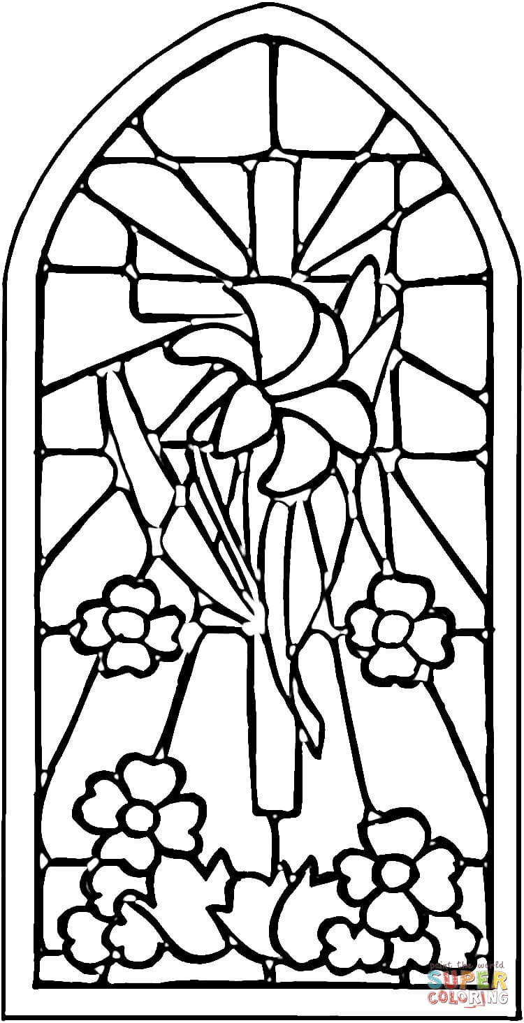 stained glass window coloring pages simple stained glass coloring pages coloring home glass window stained pages coloring