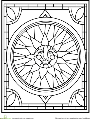 stained glass window coloring pages stained glass window worksheet educationcom stained window coloring pages glass