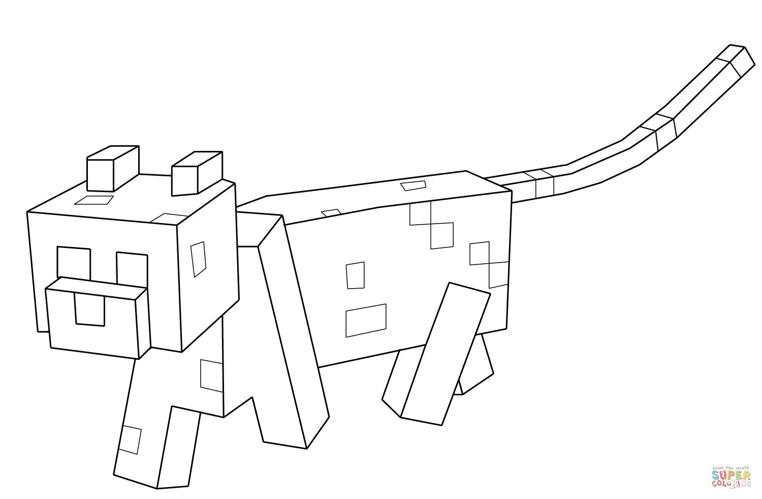 stampy coloring pages minecraft cat drawing at getdrawings free download stampy coloring pages