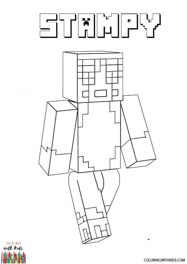 stampy coloring pages minecraft coloring pages stampy at getdrawings free download pages coloring stampy