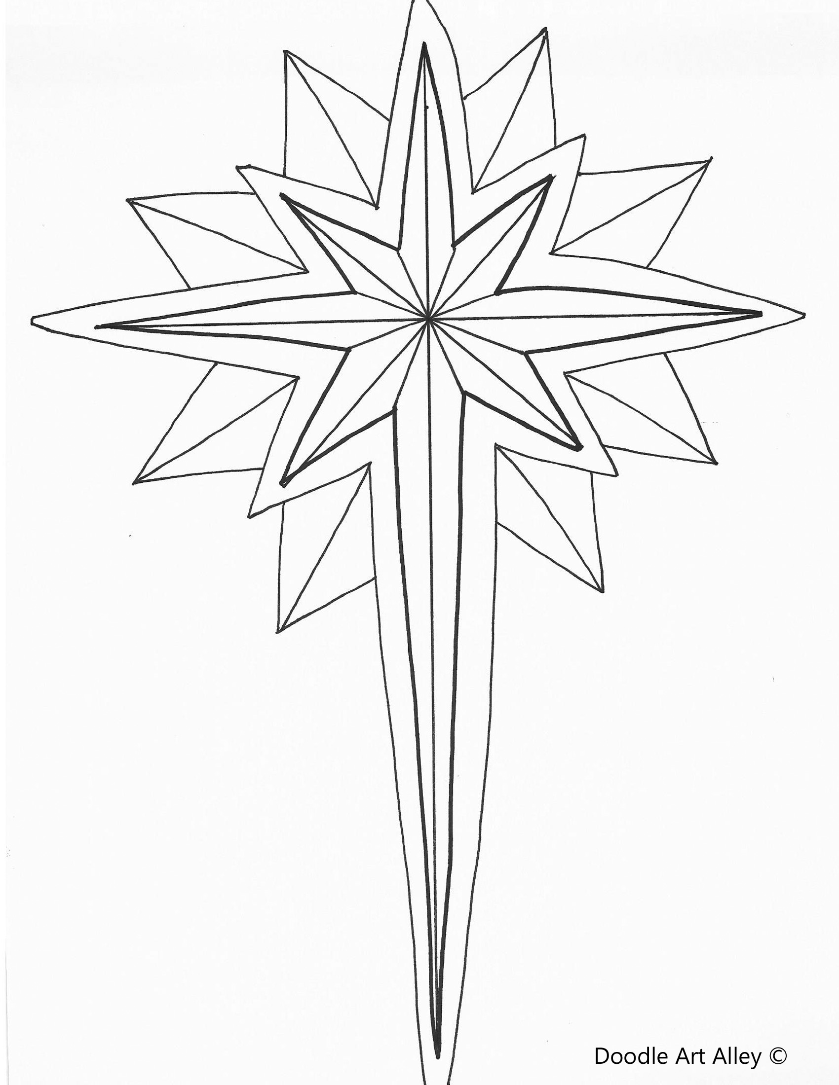 star of bethlehem coloring page star of bethlehem color page religious christmas color of star bethlehem coloring page