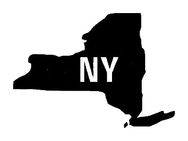 state silhouettes new york state silhouette vinyl sticker car decal silhouettes state